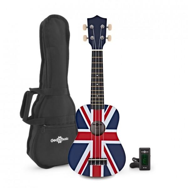 Ukulele Pack by Gear4music, Union Jack