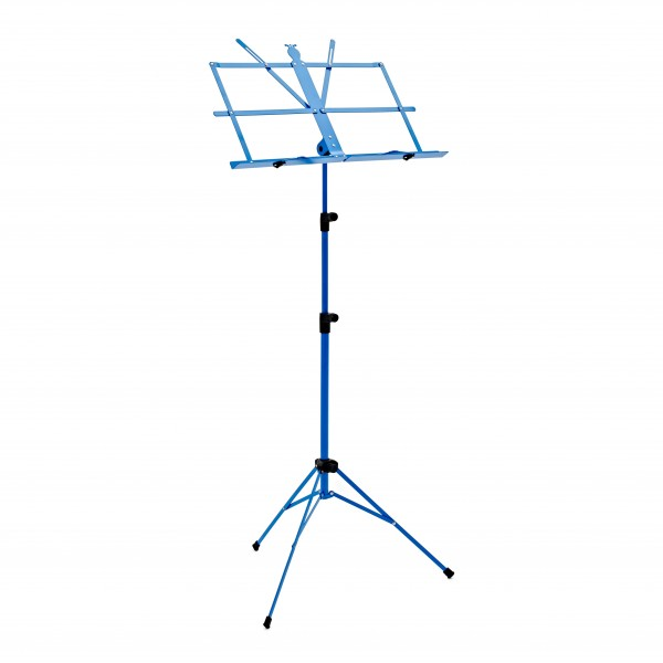 Music Stand with Carry Bag by Gear4music, Blue