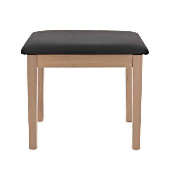 Piano Stool with Storage by Gear4music, Light Oak