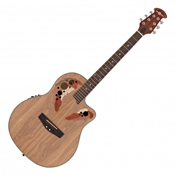 Deluxe Roundback Electro Acoustic by Gear4music, Natural - Nearly New