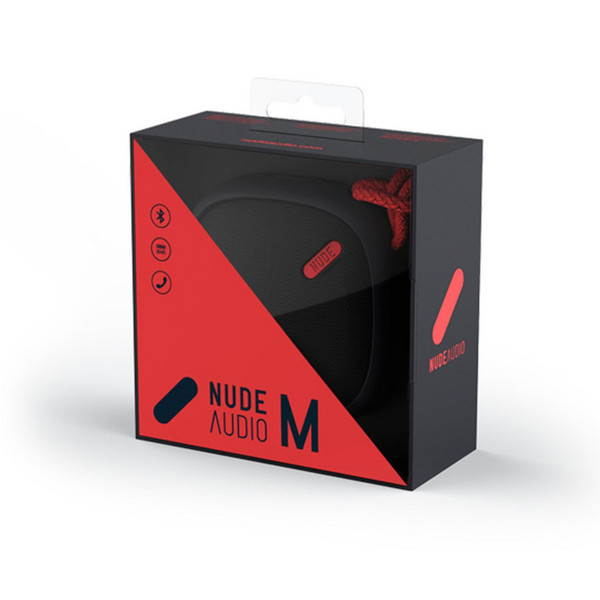 Nude Move Medium Bærbar Universal Bluetooth Høyttaler, Black