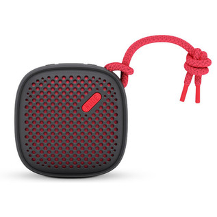 Nude Move Small Portable Universal Bluetooth Speaker, Black/Coral
