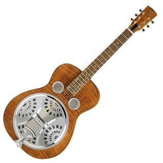 Epiphone Dobro Hound Dog Deluxe Round Neck Resonator, Vintage Brown