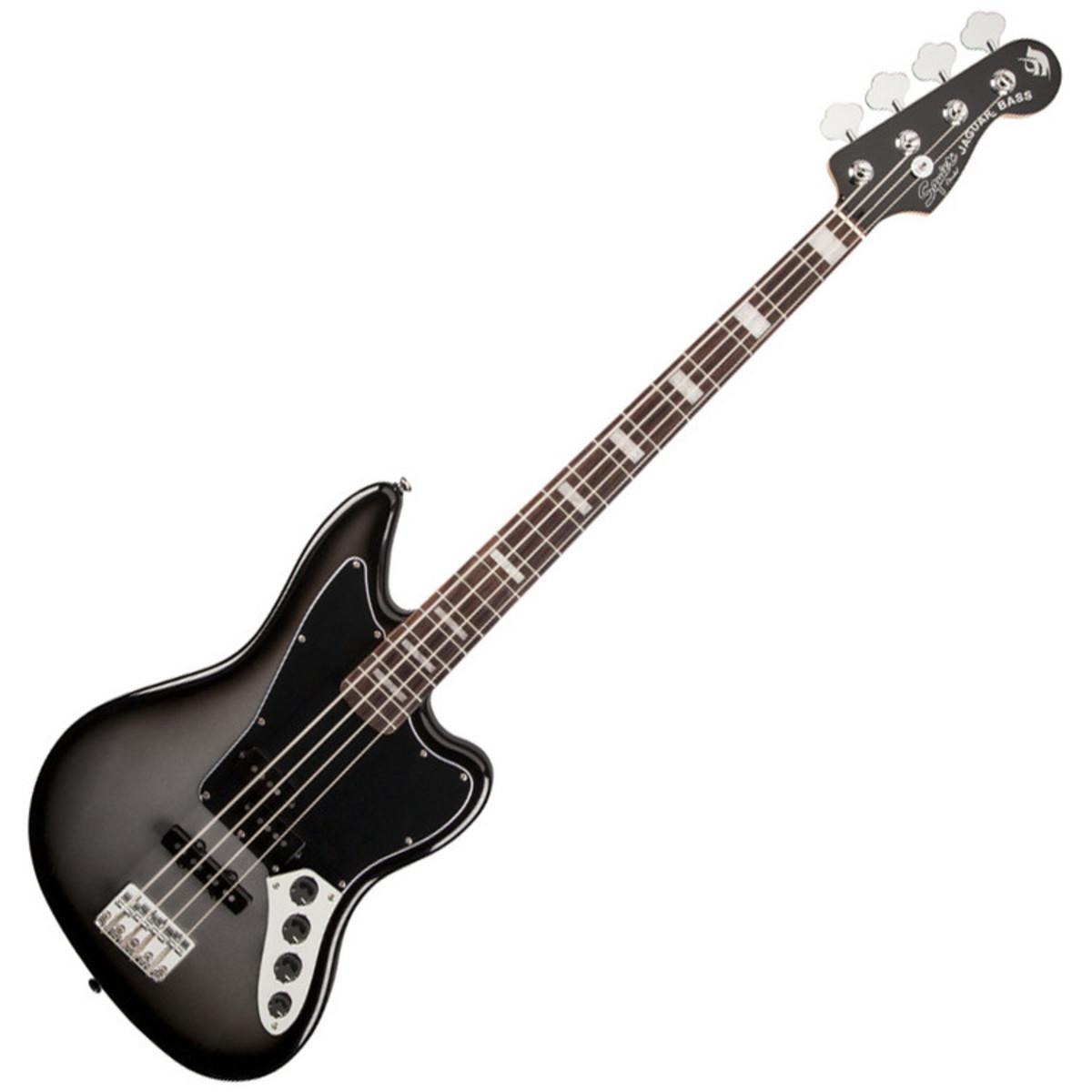 Elegant Squier By Fender Troy Sanders Jaguar Bass, Silverburst