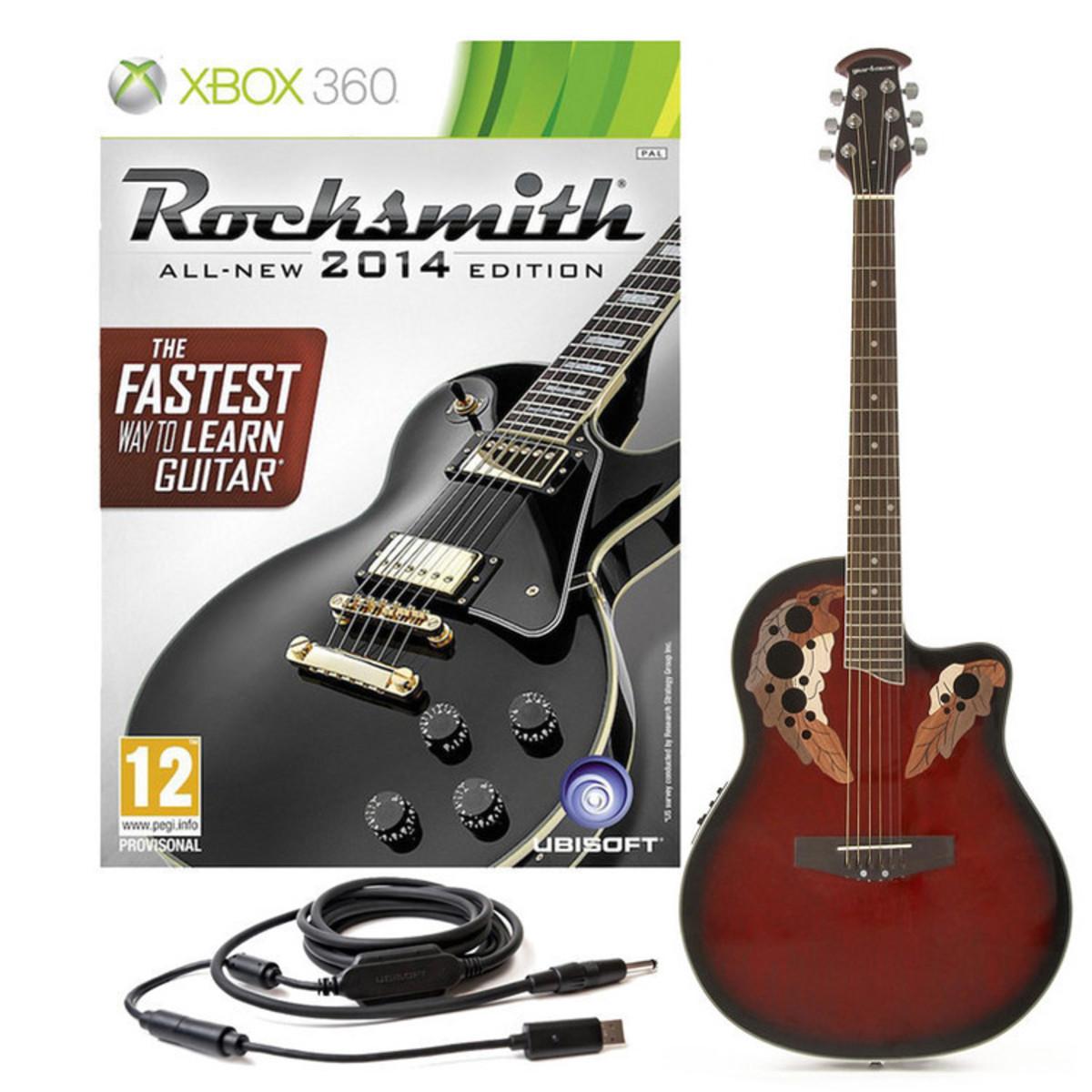 Rocksmith 2014 Xbox 360 + Guitare électro-acoustique Dos ...