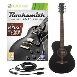 Rocksmith 2014 Xbox 360 + Single Cutaway Electro Acoustic, Black
