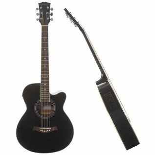 Rocksmith 2014 Xbox 360 + Single Cutaway Electro Acoustic, Black