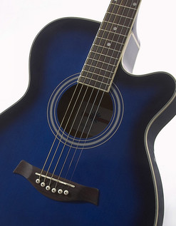 Rocksmith 2014 Xbox 360 + Single Cutaway Electro Acoustic, Blue