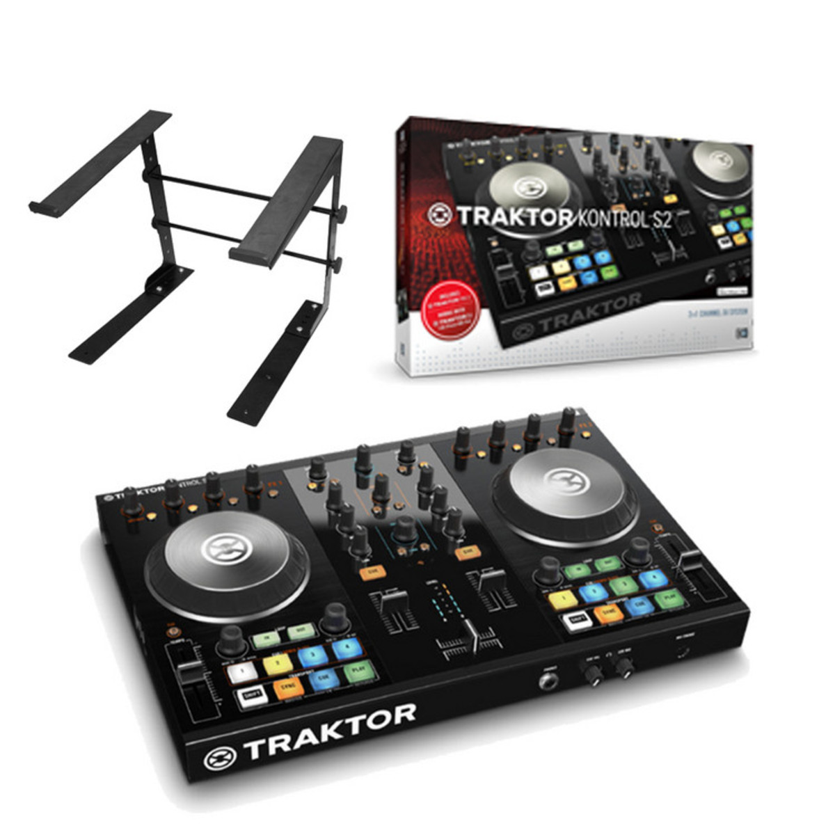 native instruments traktor kontrol s2 ensemble contr leur pupitre pour ordinateur portable. Black Bedroom Furniture Sets. Home Design Ideas