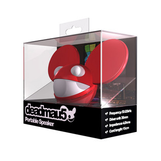 KitSound Deadmau5 Portable Mini Speaker, Red
