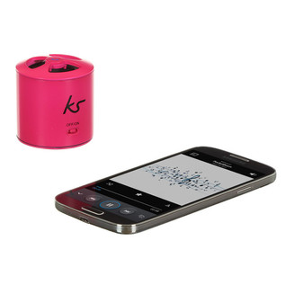 KitSound PocketBoom Bluetooth Speaker, Pink