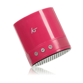 KitSound PocketBoom Portable Bluetooth Speaker With Extra Bass, Pink