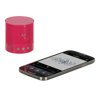 KitSound PocketBoom Portable Bluetooth Speaker With Extra Bass, Pink 2