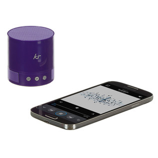 KitSound PocketBoom Portable Bluetooth Speaker -  Extra Bass, Purple
