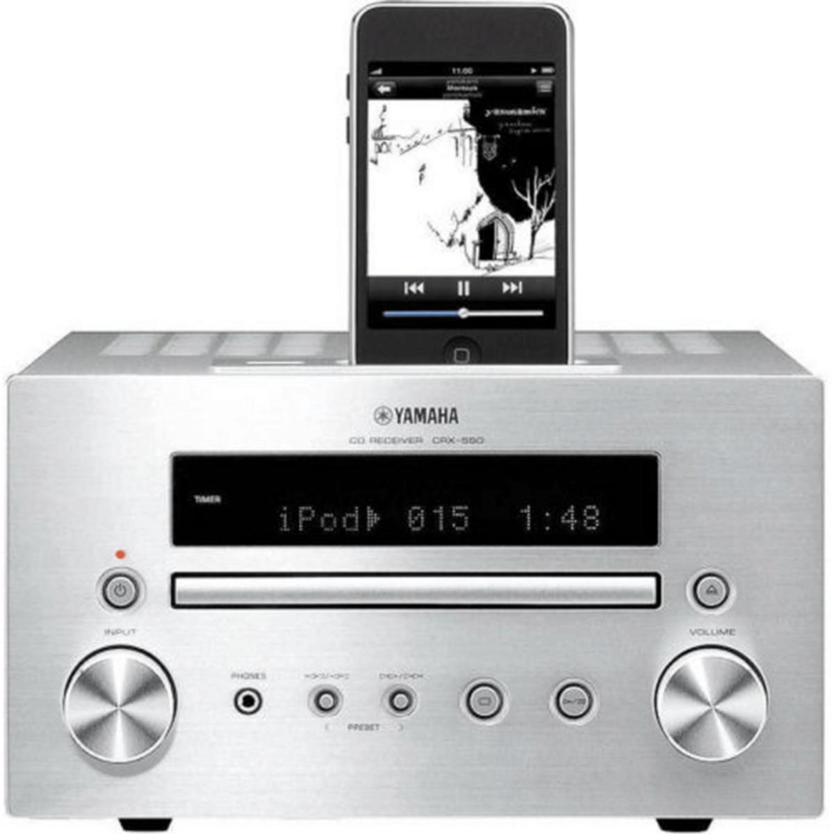 Disc yamaha crx 550 mini sound system with ipod dock for Yamaha sound dock