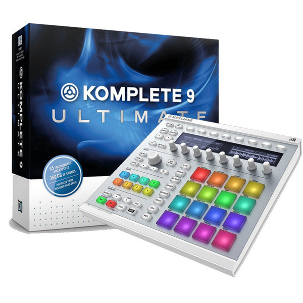 native instruments maschine mk2 white and komplete 9 ultimate at gear4music. Black Bedroom Furniture Sets. Home Design Ideas