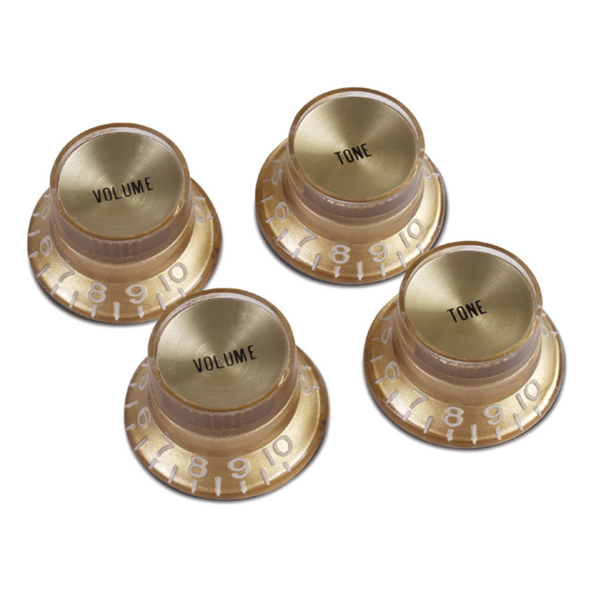 Gibson Top Hat Knobs : gibson top hat knobs for electric guitar gold with gold insert at gear4music ~ Hamham.info Haus und Dekorationen