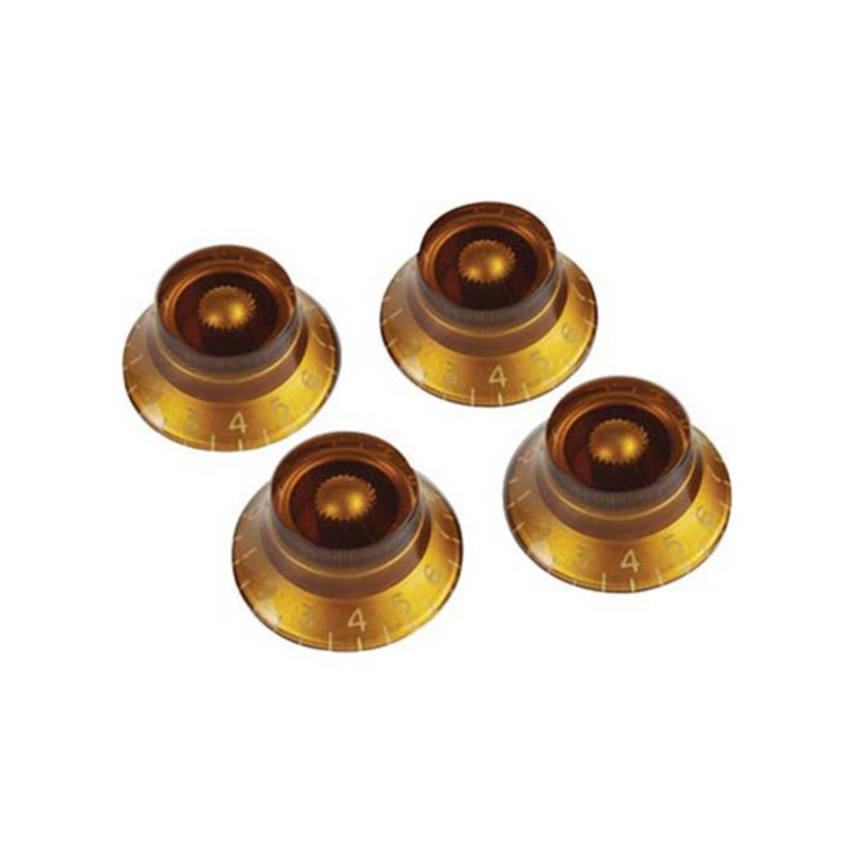 gibson top hat knobs for electric guitar 4 pack amber at gear4music. Black Bedroom Furniture Sets. Home Design Ideas