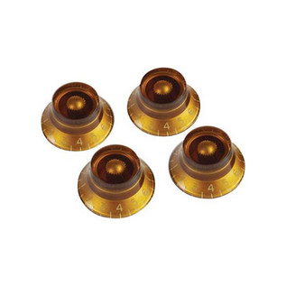 Gibson Top Hat Knobs for Electric Guitar, 4 Pack Amber