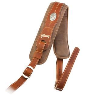 Gibson Austin Comfort Premium Guitar Strap, Brown