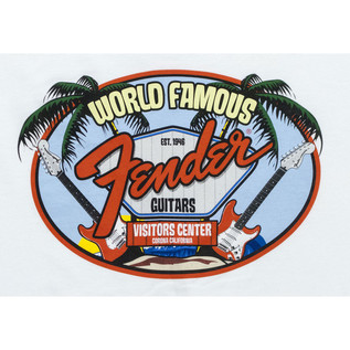 Fender World Famous Visit Centre, White, XL