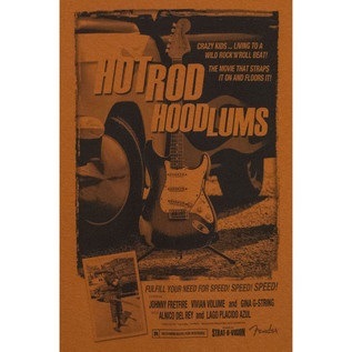 Fender Hotrod Hoodlums T-Shirt, Orange, XL
