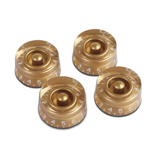 Gibson Speed Knobs for Electric Guitar, 4 Pack Gold