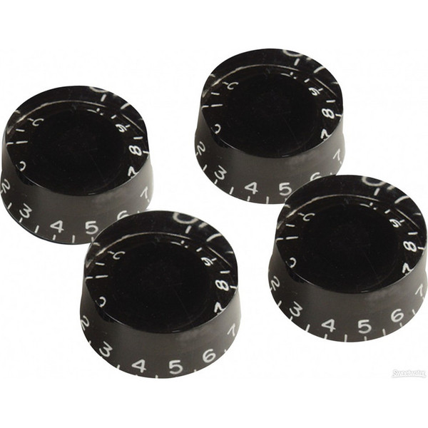 Gibson Speed Knobs for Electric Guitar, 4 Pack Black
