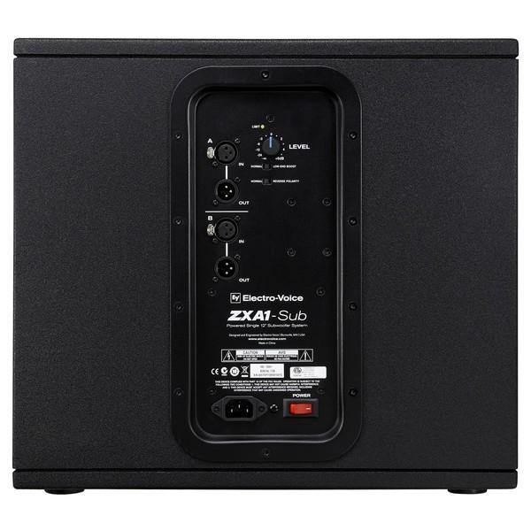Electro-Voice ZXA1-SUB, Rear Panel