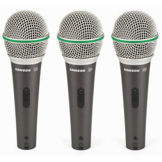 Samson Q6 CL Dynamic Mic 3-Pack