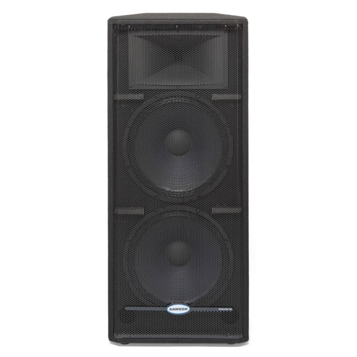 Samson Resound Rs215 Hd 2 X 15 Passive Pa Speaker At