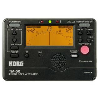 Korg TM-50 Tuner/Metronome, Black