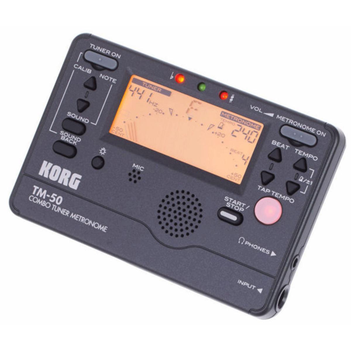 Korg Tm 50 : korg tm 50 tuner metronome black at gear4music ~ Russianpoet.info Haus und Dekorationen