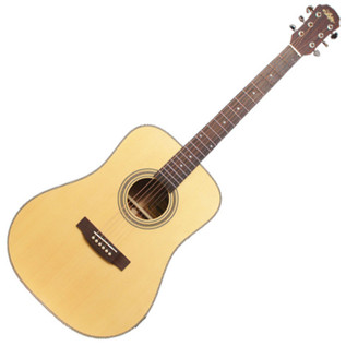 Aria 515 Dreadnought Acoustic Guitar, Solid Spruce/Rosewood, Natural