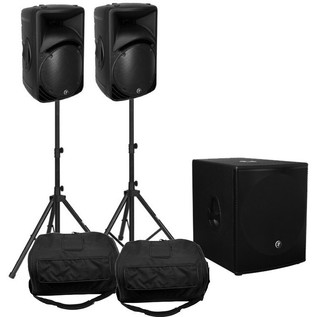 Mackie SRM450 PA Pack 1300W With Sub & Stands