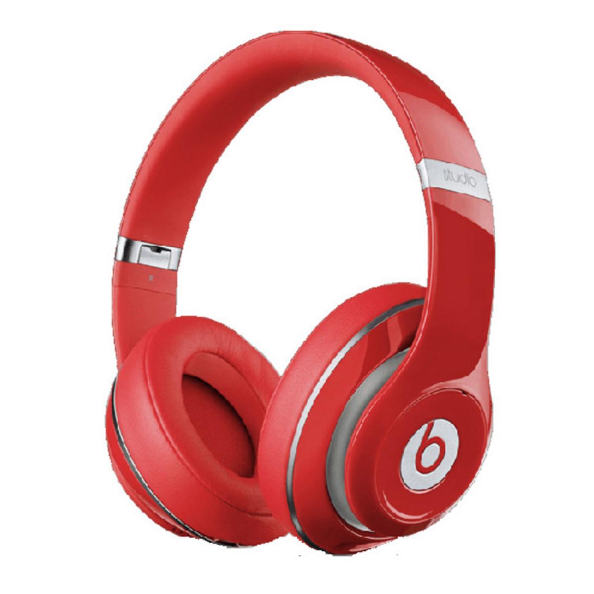 disc beats studio 2 0 over ear headphones red at. Black Bedroom Furniture Sets. Home Design Ideas