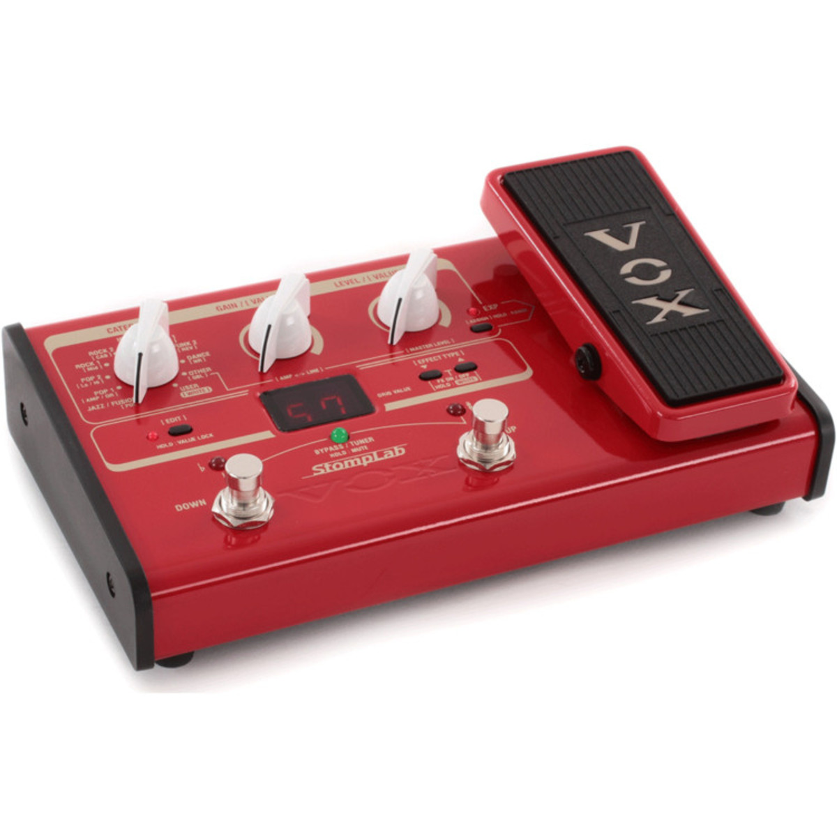vox stomplab iib bass guitar multi effects with expression pedal at gear4music