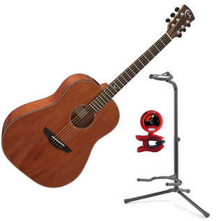 Faith Mars Mahogany Acoustic Guitar with FREE Snark Tuner and Stand