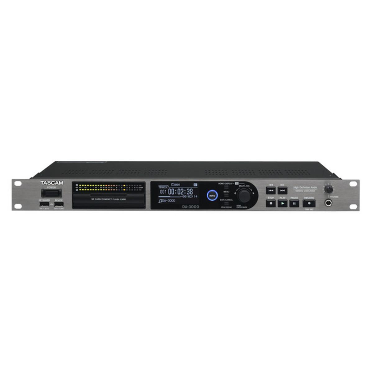 Tascam Da 3000 2 Channel High Definition Audio Recorder At Gear4music Circuitdiagram Addaconvertercircuit Adconverter 16bitad