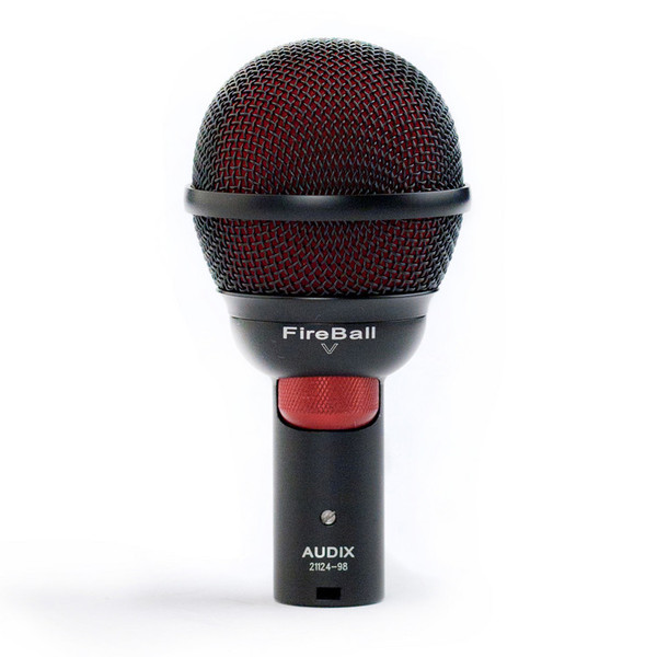 Audix Fireball Dynamic Cardioid Ultra Small Microphone w/ Volume Knob - Front