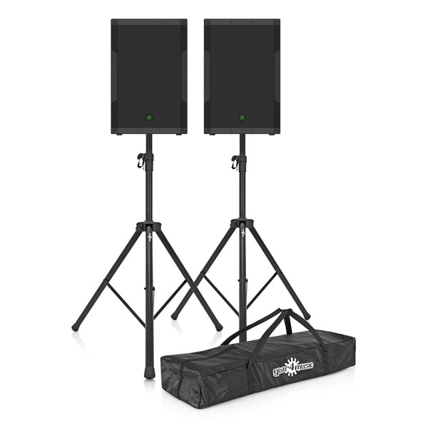 Mackie SRM650 15'' Active PA Speaker Bundle Including Stands