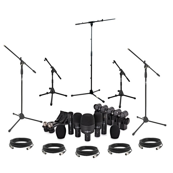 DMS-5PS Complete Drum Microphone Set Including Stands and Cables