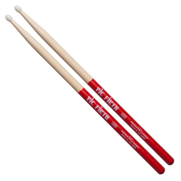 Vic Firth American Classic Rock Drum Stick, Nylon Tip with Vic Grip