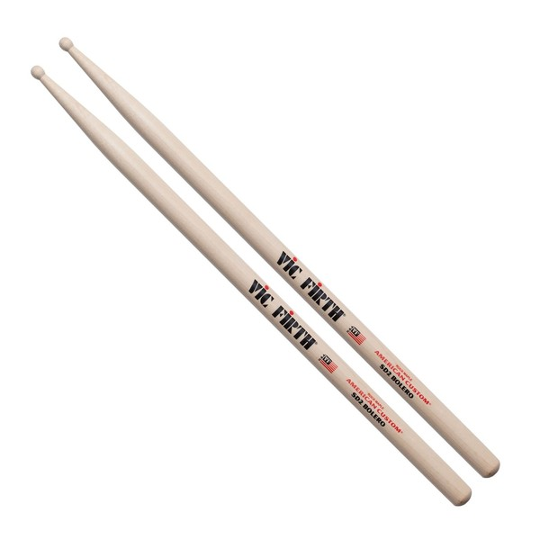 Vic Firth American Custom SD2 Bolero Drum Sticks, Wood Tip