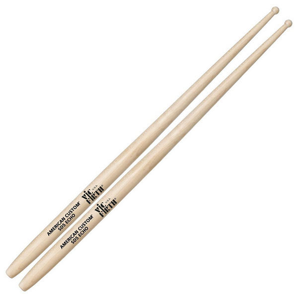 Vic Firth American Custom SD5 Echo Drum Sticks, Wood Tip