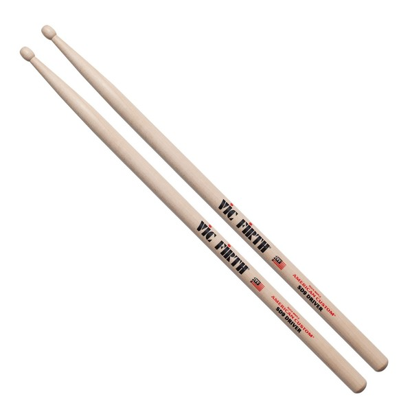 Vic Firth American Custom SD9 Driver Drum Sticks, Wood Tip