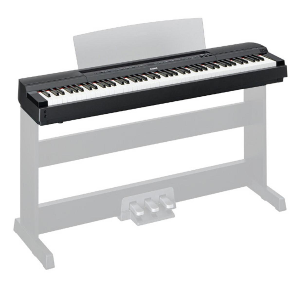 yamaha p255 lightweight digital piano black at. Black Bedroom Furniture Sets. Home Design Ideas