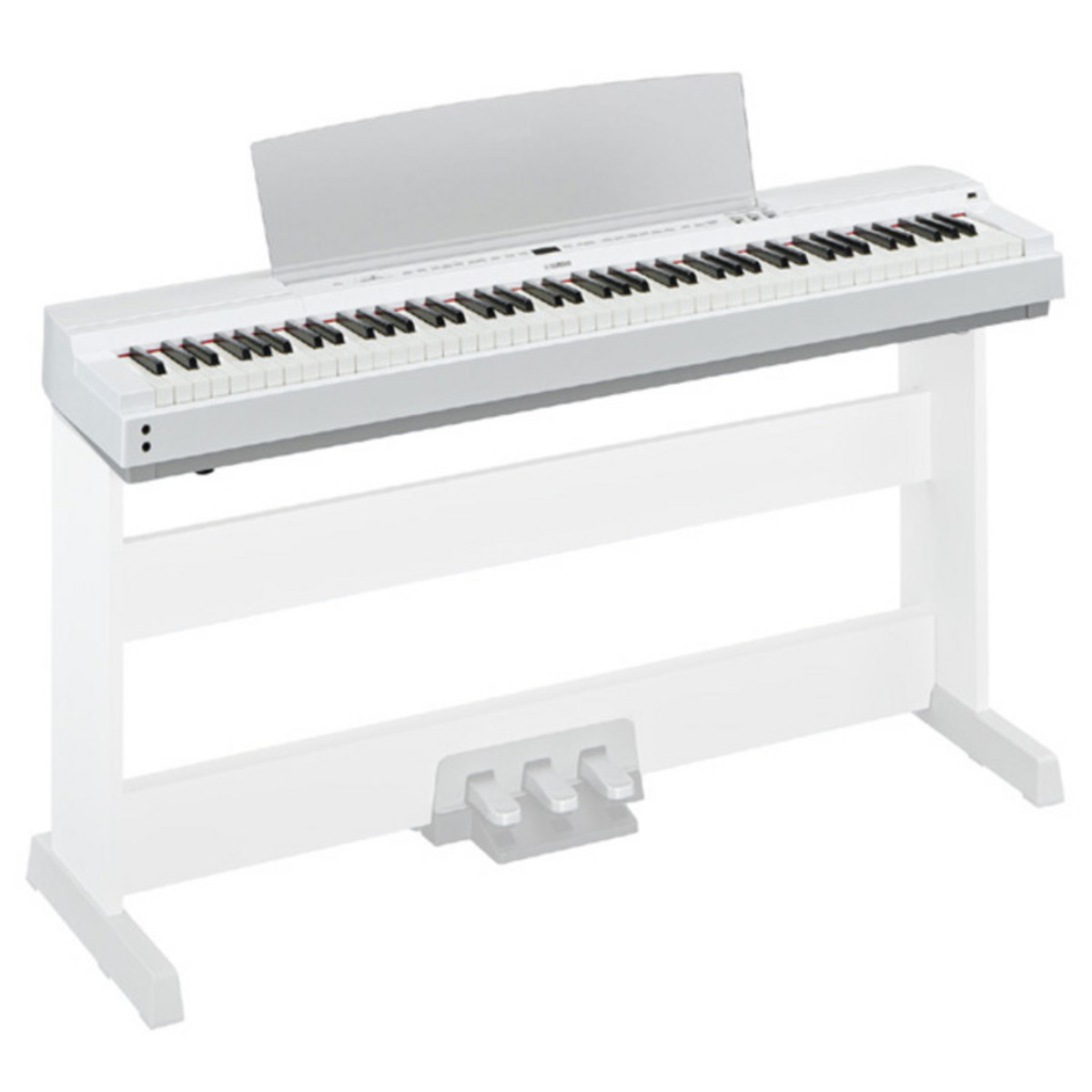 Yamaha p255 lightweight digital piano white at for White yamaha piano