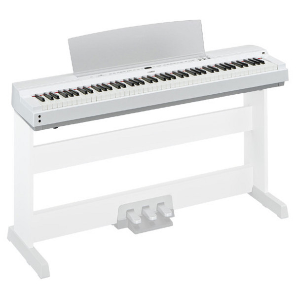 Yamaha P-Series P-255 Lightweight Digital Piano, White