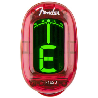 Fender FT-1620 California Series Clip-On Tuner, Candy Apple Red